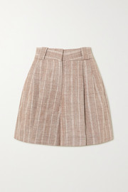 Blazé Milano Wind Hunter Fell pinstriped grain de poudre shorts
