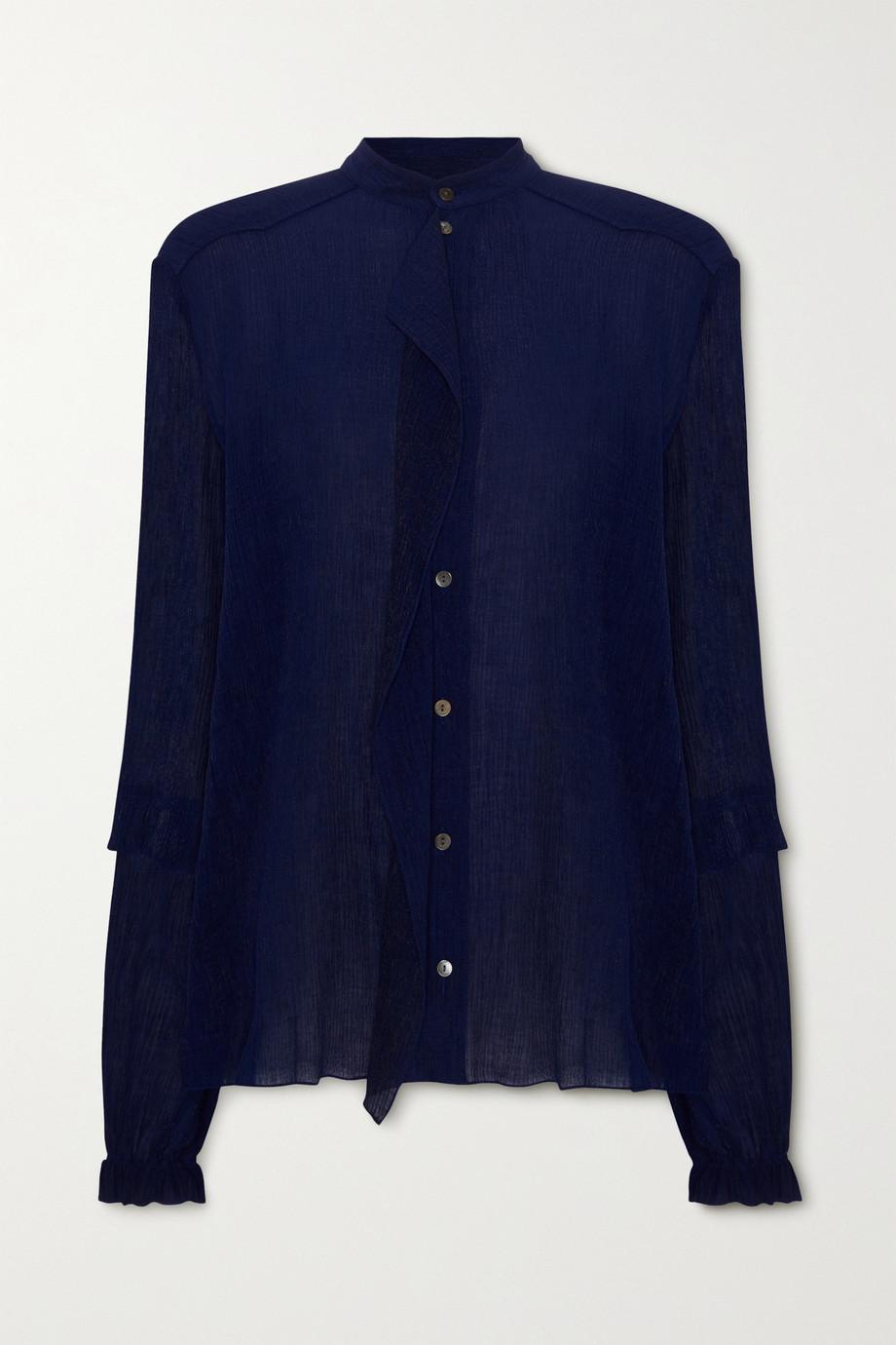 Roland Mouret Edgar draped crepon blouse