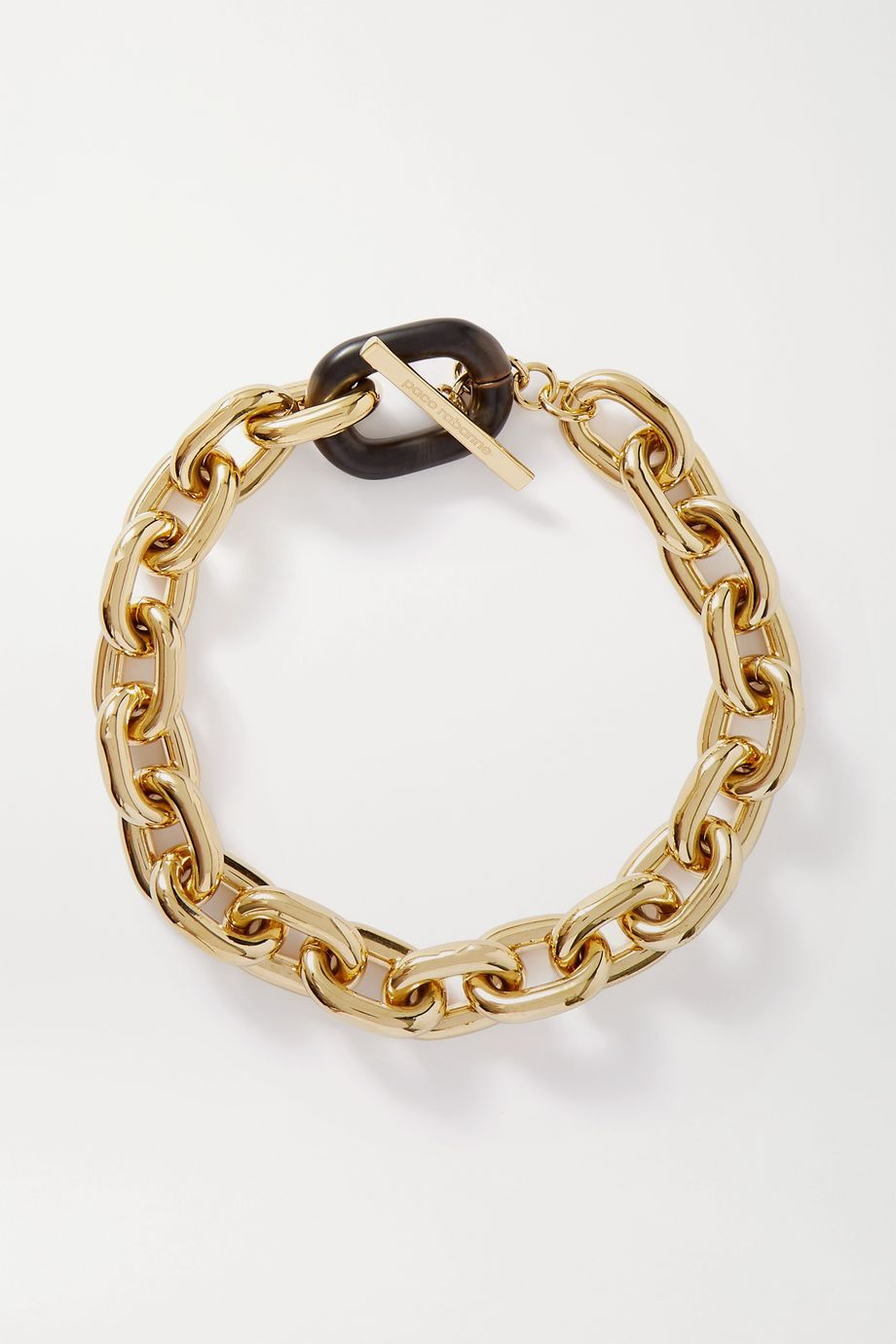 Paco Rabanne Gold-tone and acrylic necklace