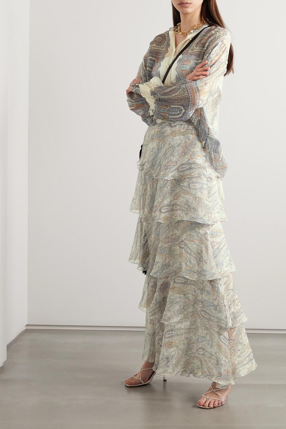 Etro Bluse aus Seidenkrepon mit Paisley-Print