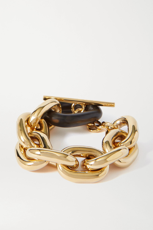 Paco Rabanne Gold-tone and acrylic bracelet
