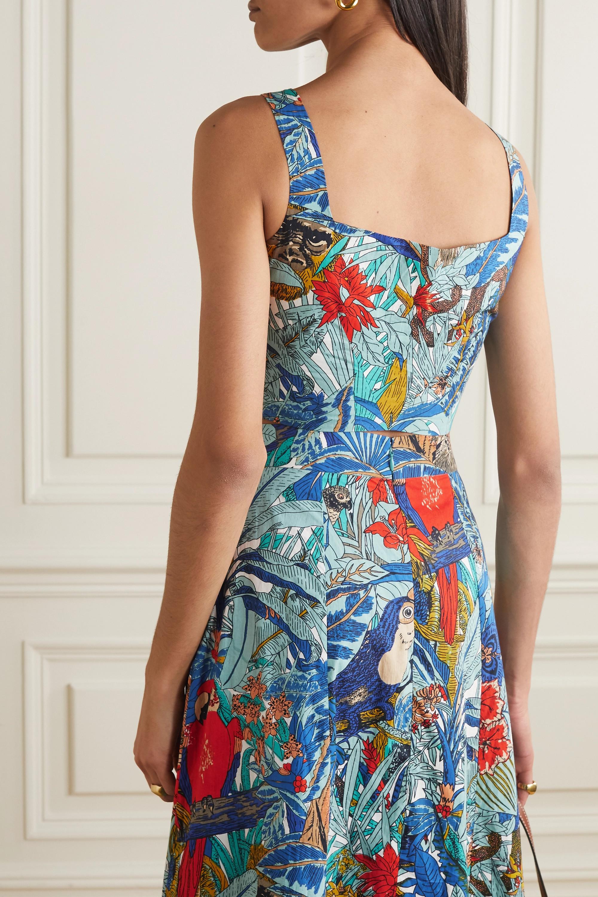 Le Sirenuse Positano Cinderella cropped printed cotton top