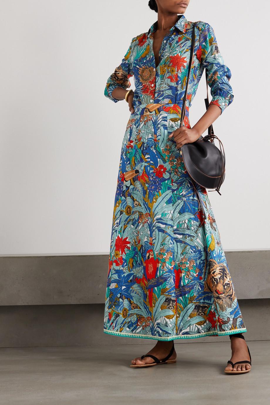 Le Sirenuse Positano Penny bedrucktes Baumwollhemd