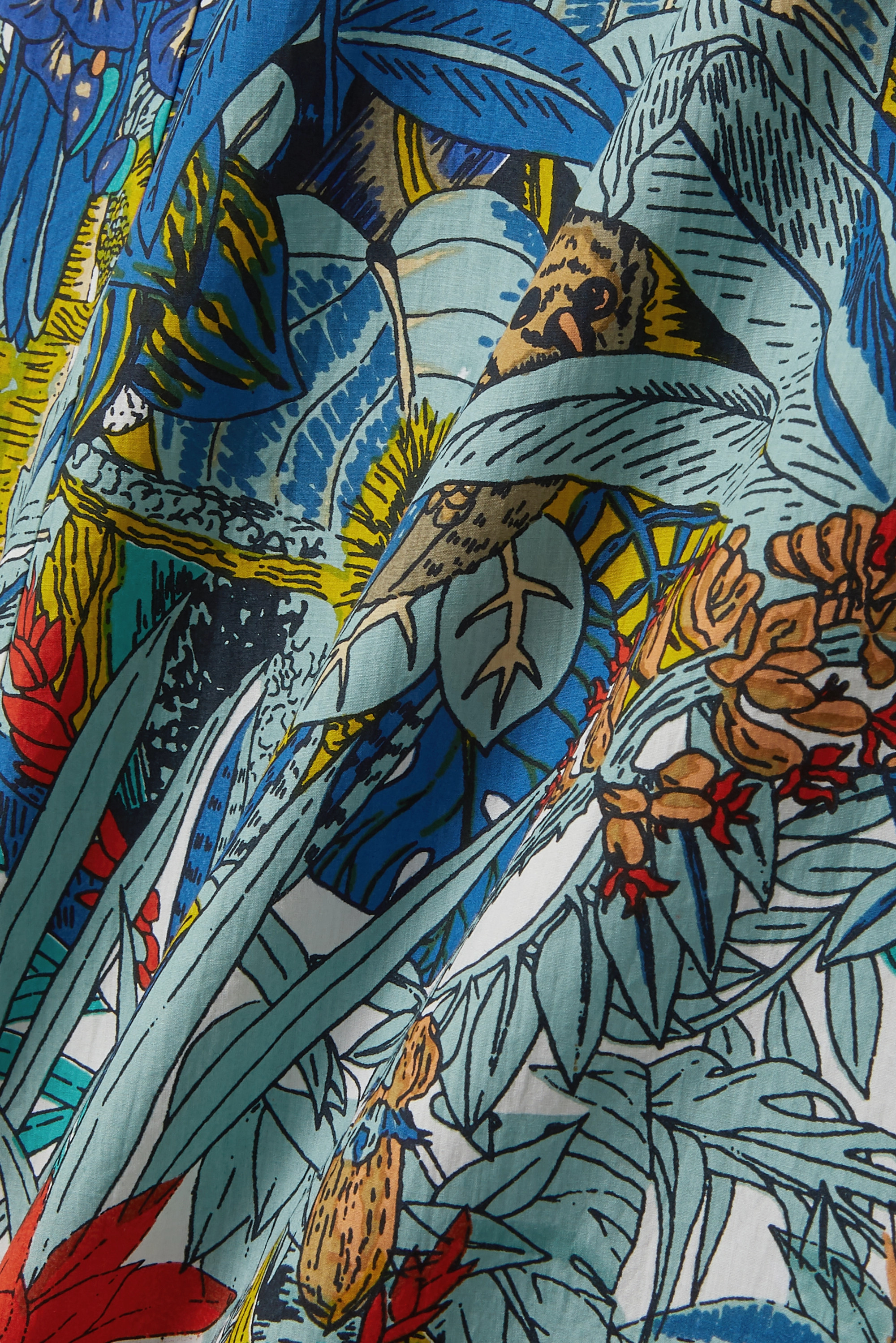 Le Sirenuse Positano Camille printed cotton maxi skirt
