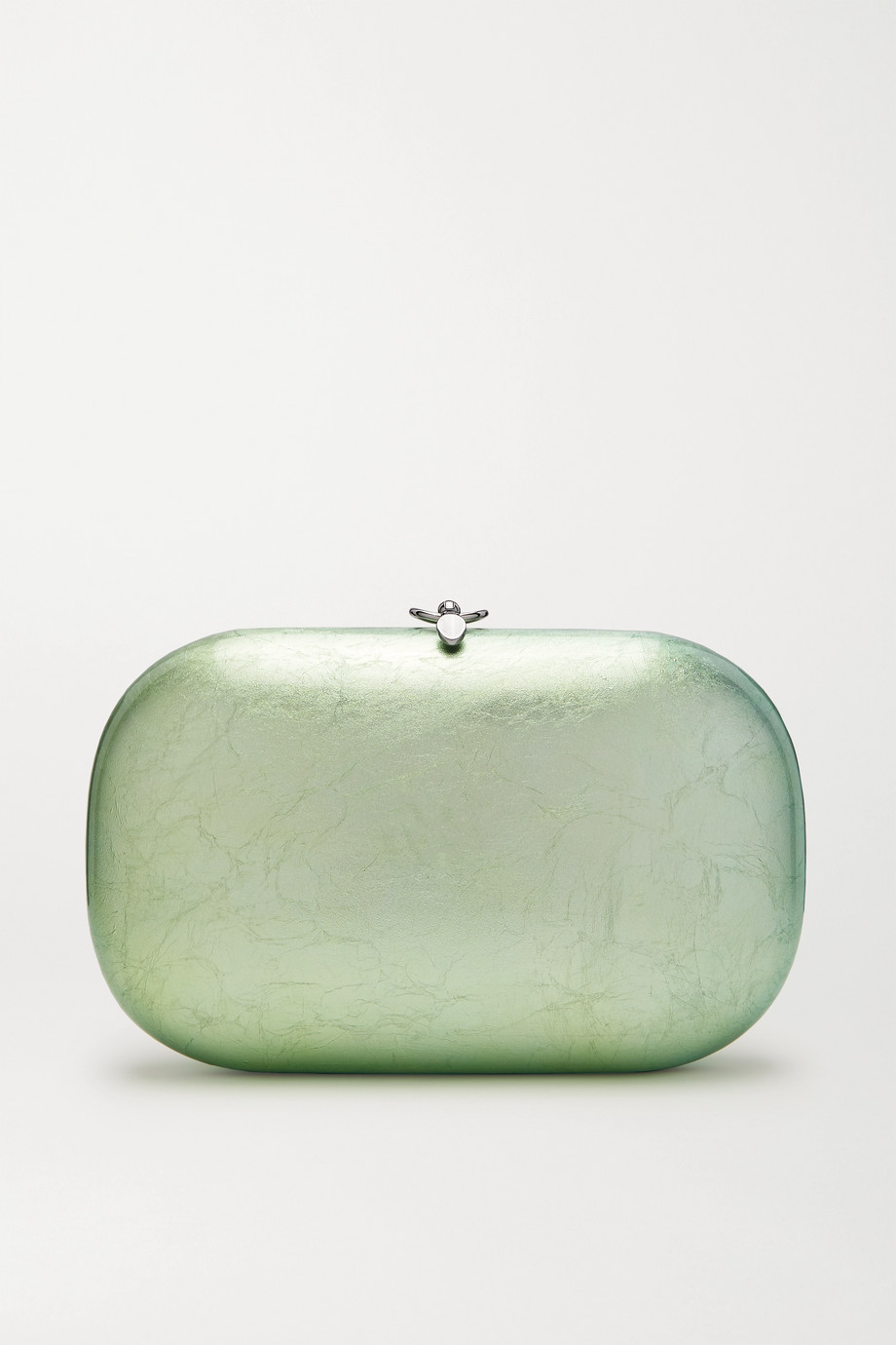 Jeffrey Levinson Elina PLUS textured silver and enamel-plated chrome clutch