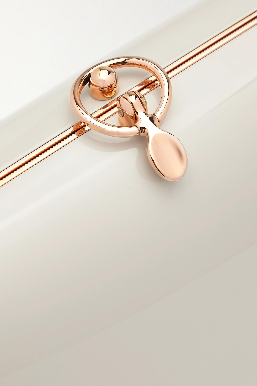 Jeffrey Levinson Elina PLUS enameled aerospace aluminum and rose gold-plated clutch
