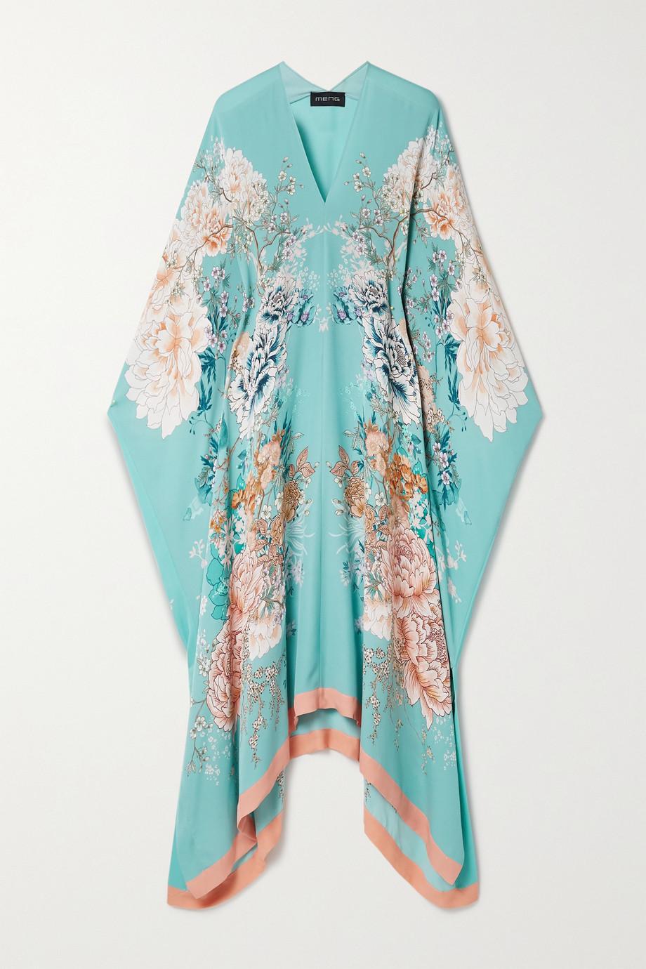 MENG Floral-print silk-crepe kaftan