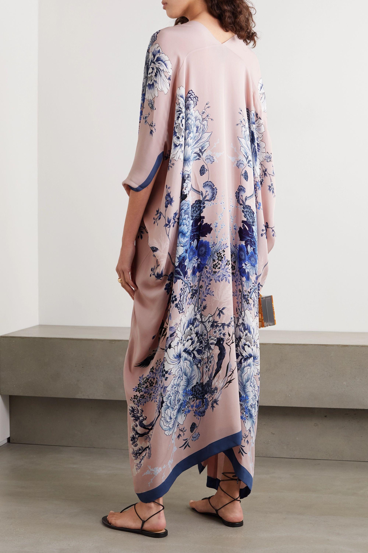 MENG Floral-print silk crepe de chine kaftan