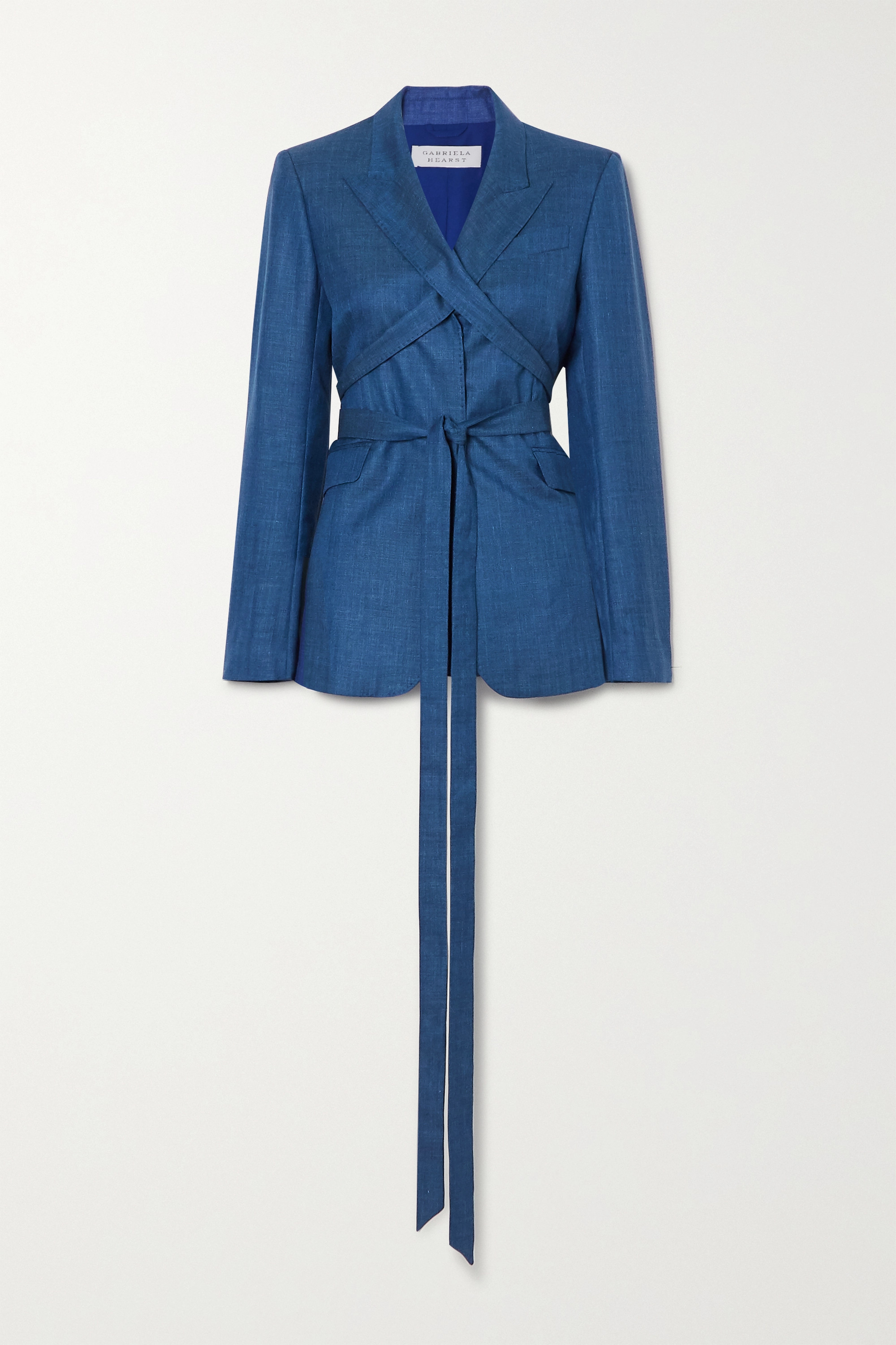 Gabriela Hearst Belted wool and silk-blend blazer
