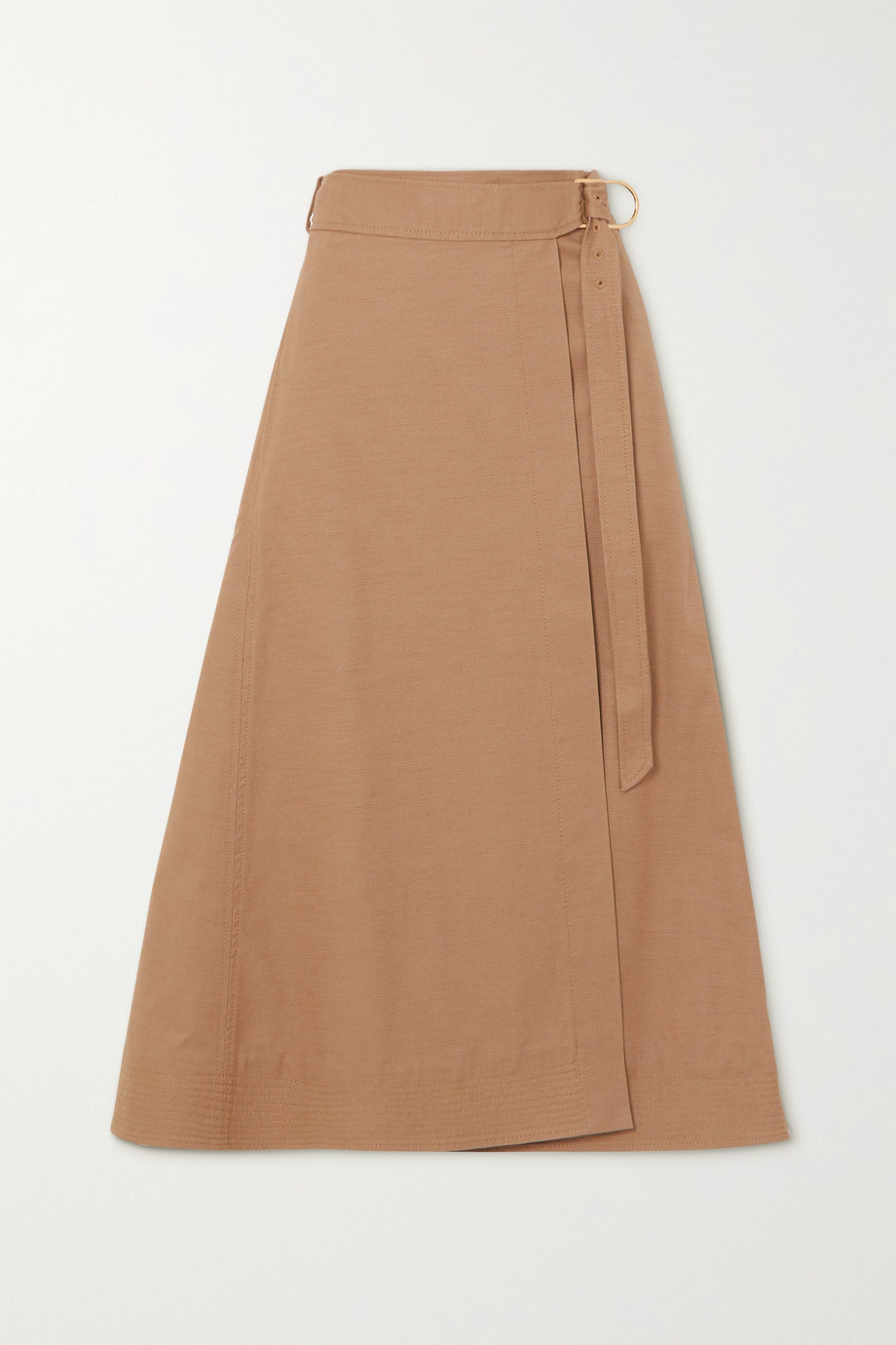 Gabriela Hearst Linda cotton-drill wrap skirt