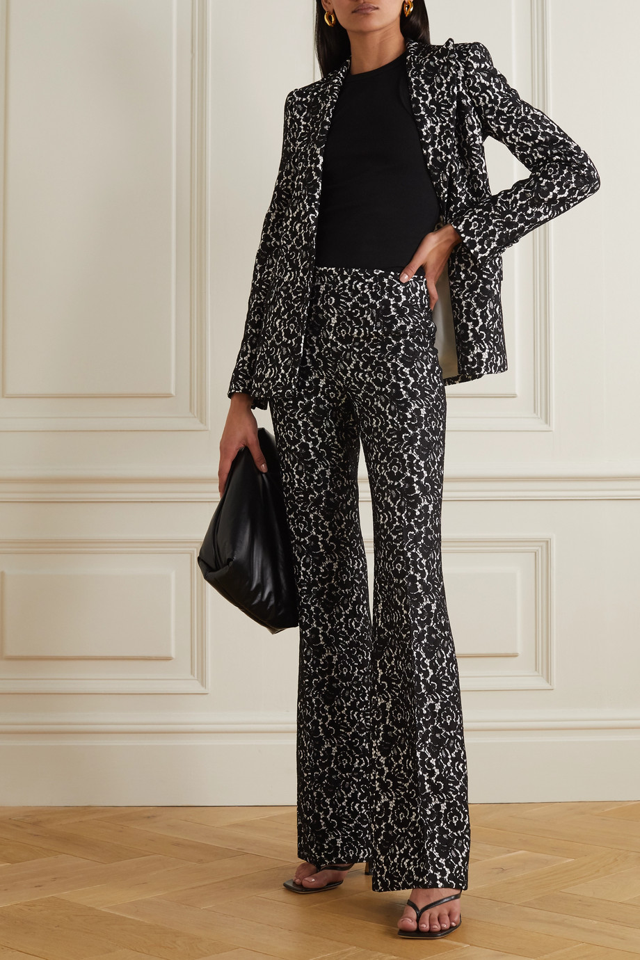 Michael Kors Collection Lace and crepe blazer