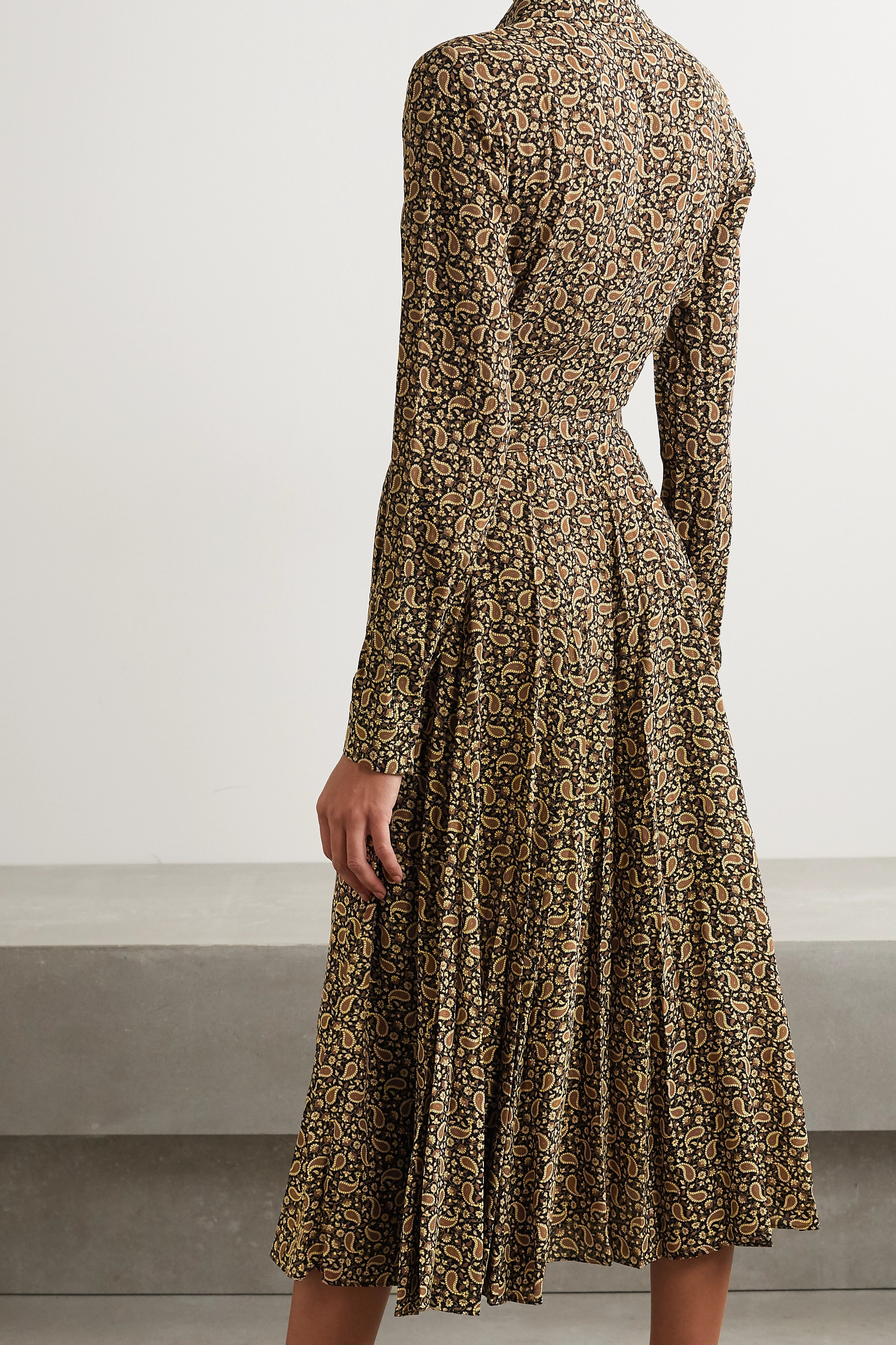 Michael Kors Collection Paisley-print silk crepe de chine shirt dress