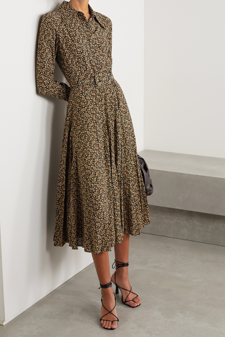 Michael Kors Collection Paisley-print silk crepe de chine shirt dress