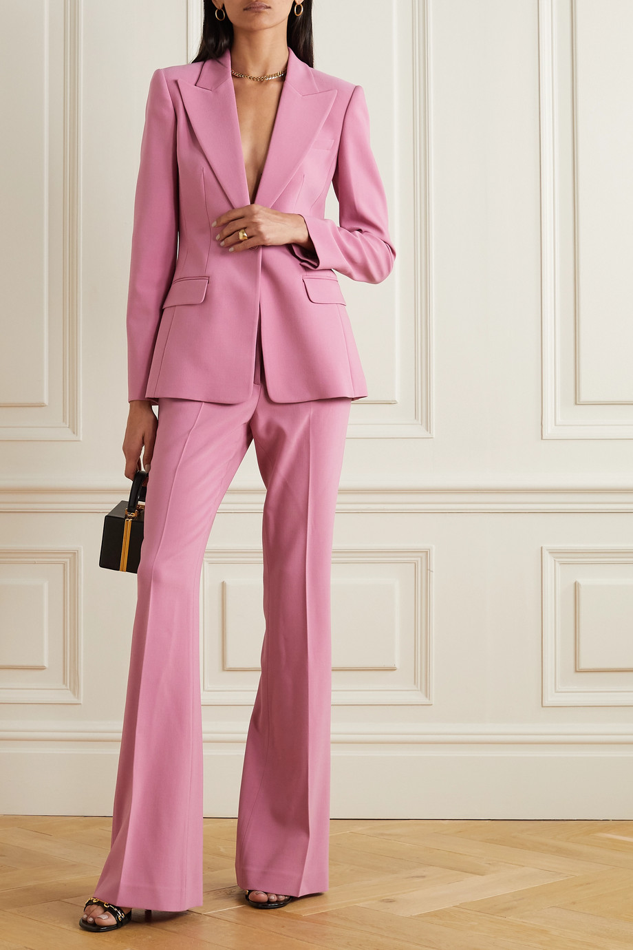 Michael Kors Collection Wool-blend crepe blazer