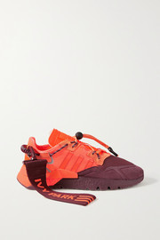 adidas Originals + Ivy Park Nite Jogger canvas-trimmed ripstop, neoprene and suede sneakers