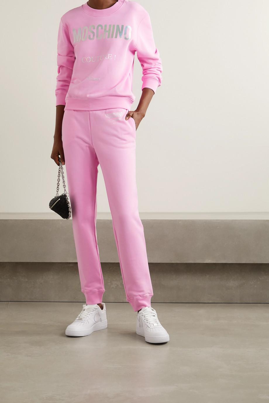 Moschino Cotton-jersey track pants