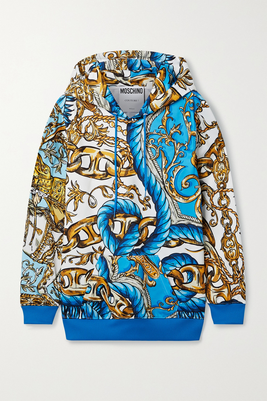 Moschino Printed tech-jersey hoodie