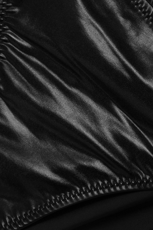 Norma Kamali Faux leather underwire bikini top