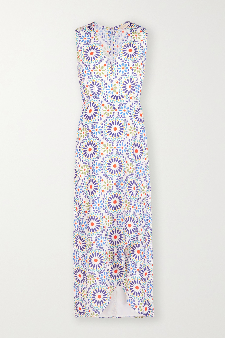 Jaline + NET SUSTAIN Karla wrap-effect printed voile maxi dress