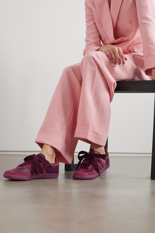 cristiandad Simpático camuflaje  Burgundy + Jonah Hill Samba leather and suede sneakers   adidas Originals    NET-A-PORTER