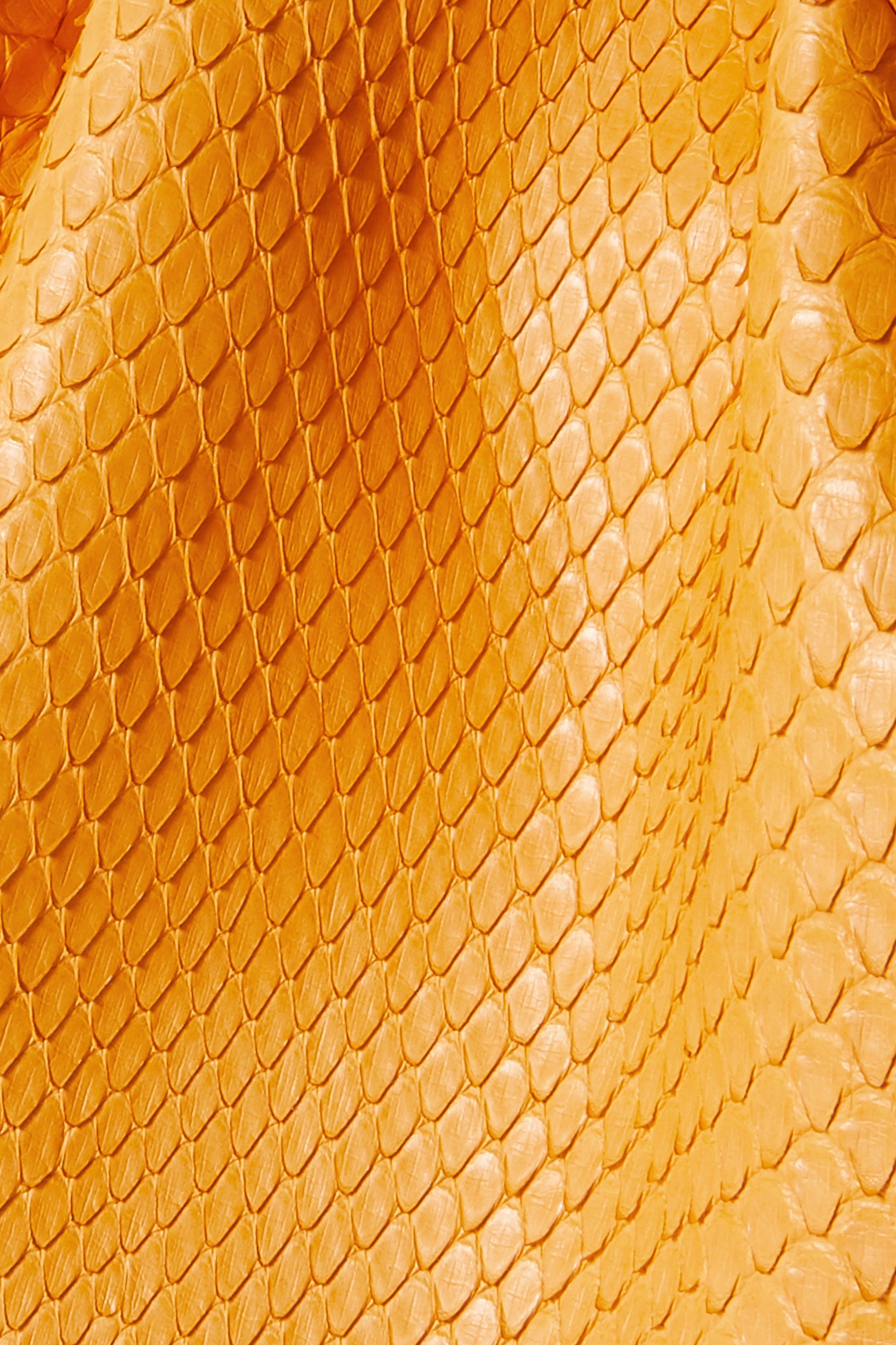 Yellow Flamenco Leather-trimmed Python Clutch | Loewe