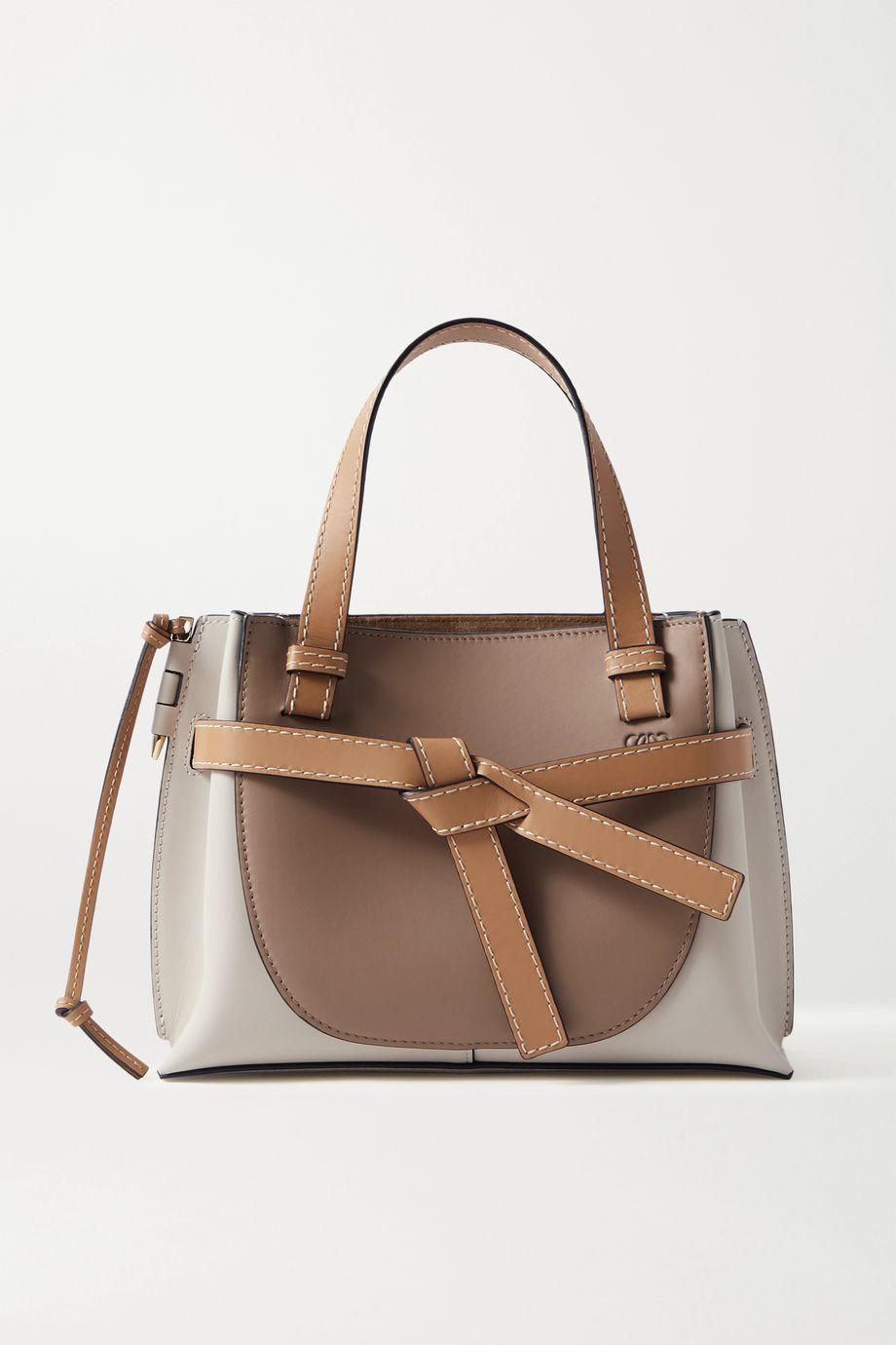 Loewe Gate mini color-block leather tote