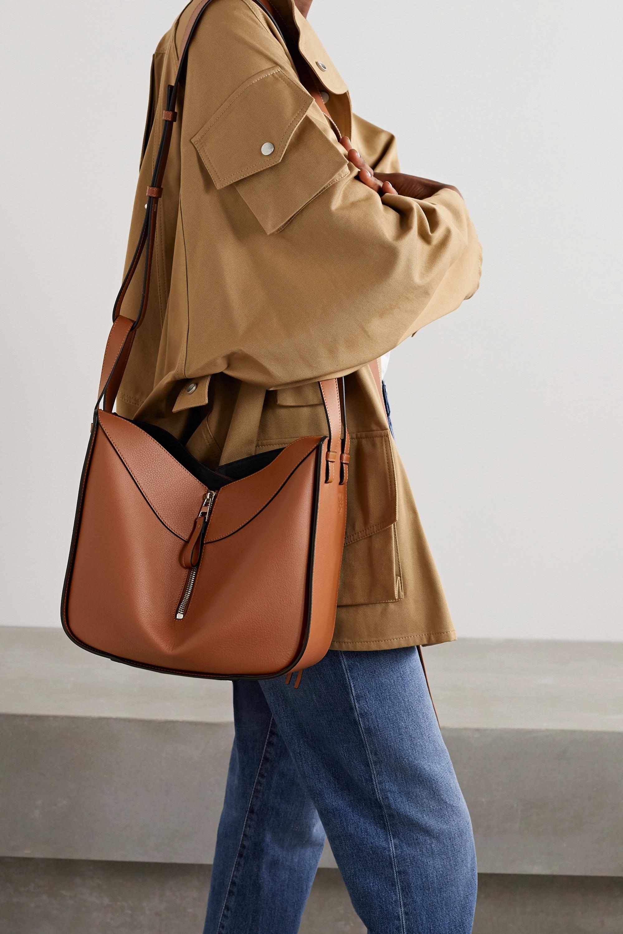 Loewe Hammock small textured-leather shoulder bag