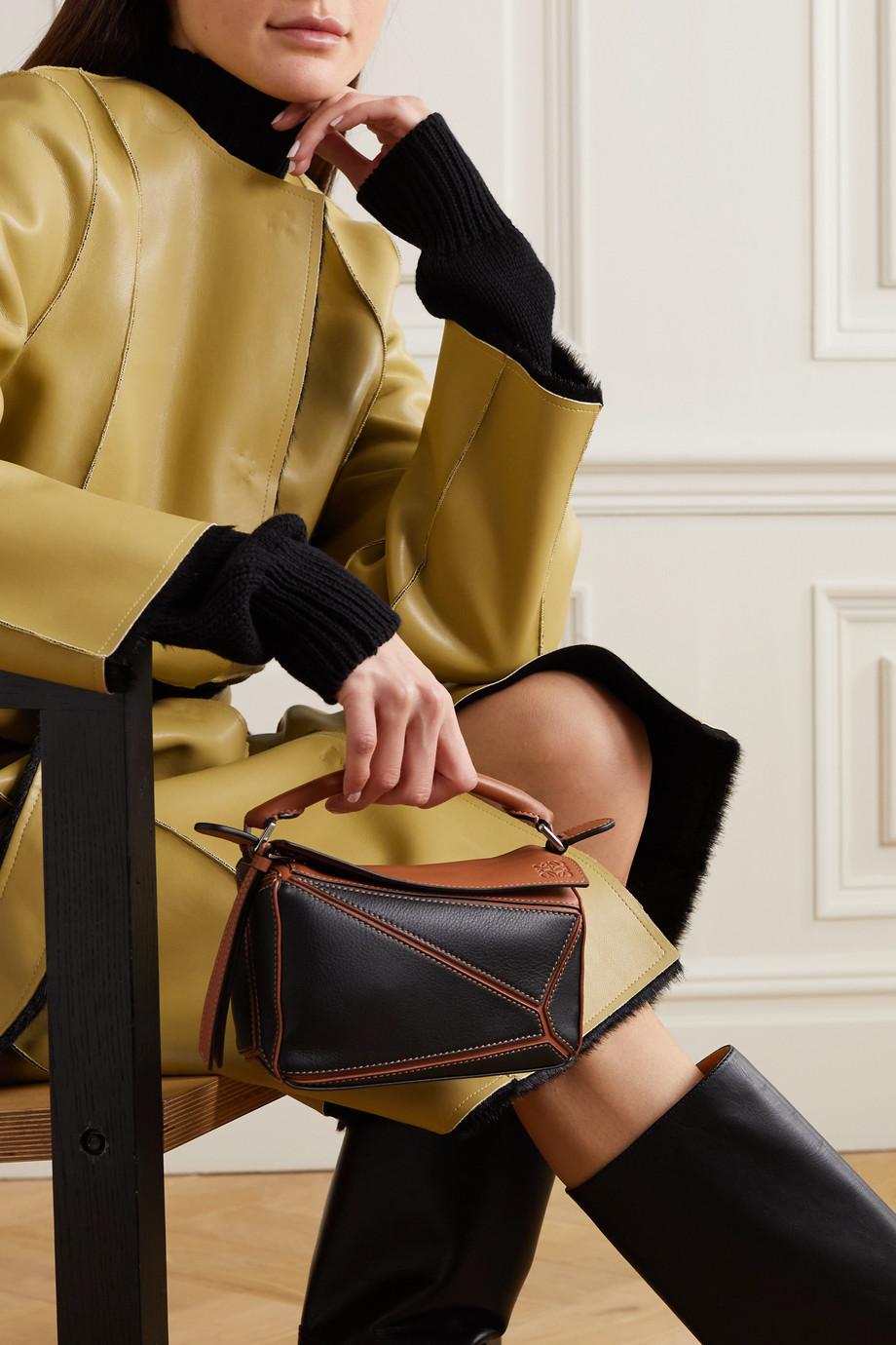 Loewe Sac porté épaule en cuir Puzzle Mini