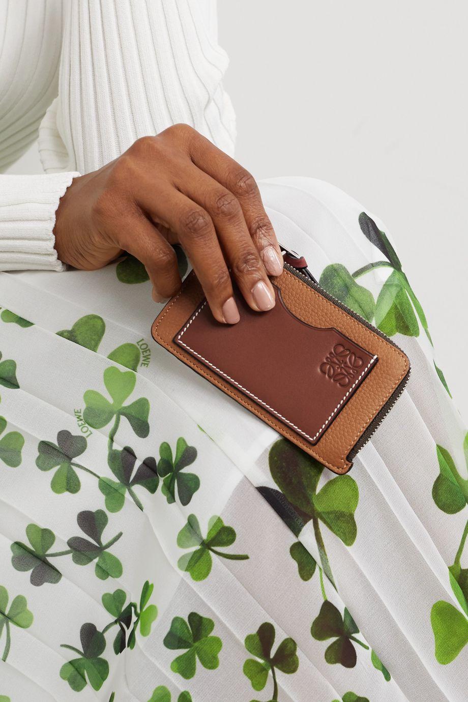Loewe Porte-cartes en cuir texturé
