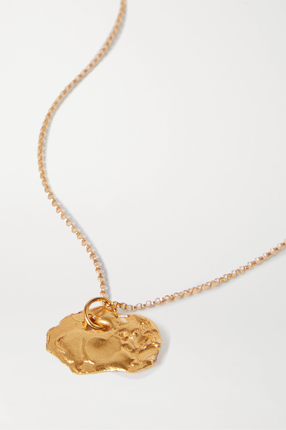 Alighieri Year of the Pig gold-plated necklace