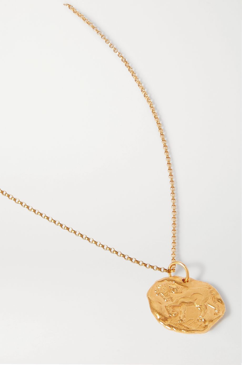 Alighieri Year of the Horse gold-plated necklace