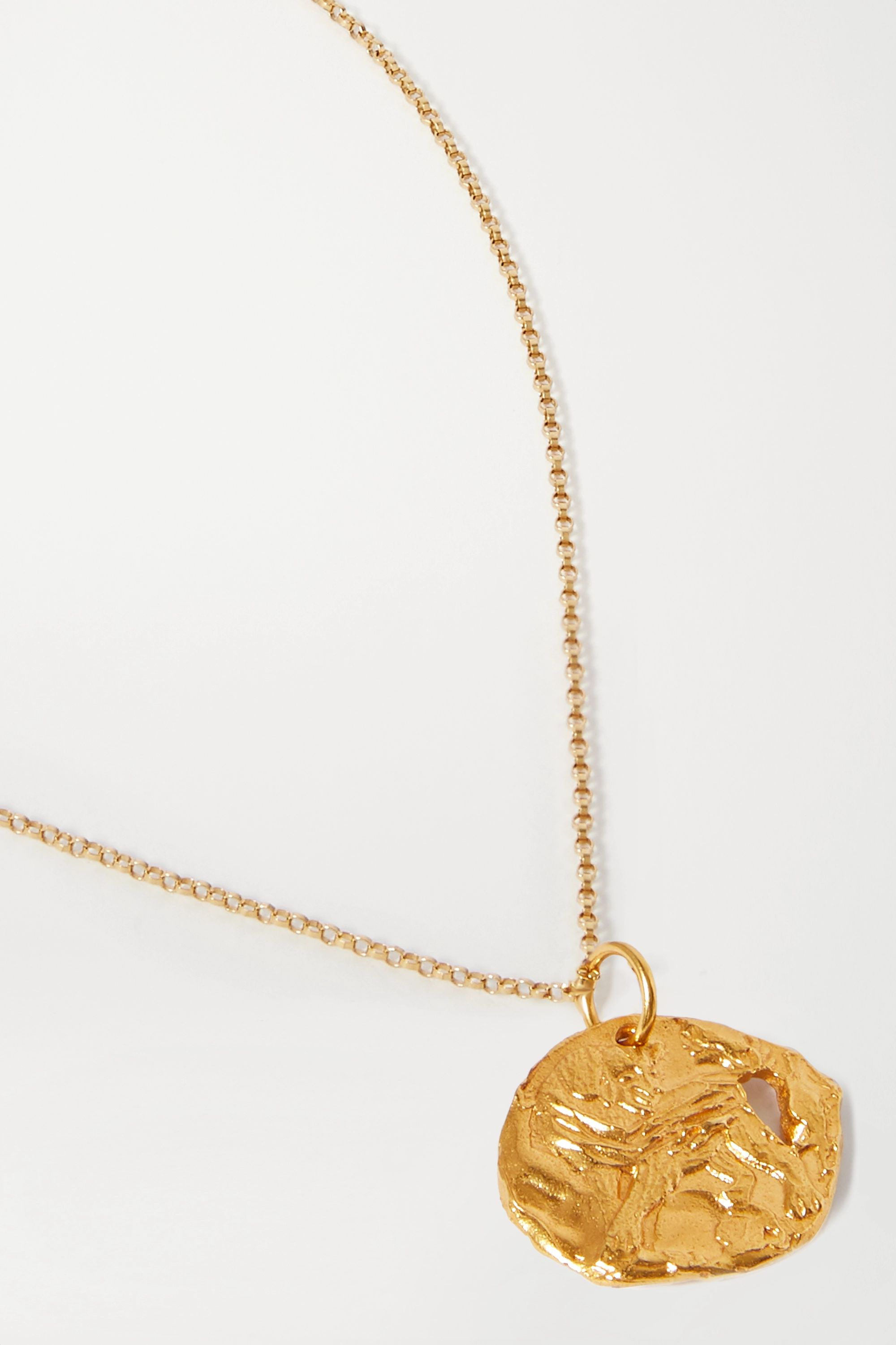 Alighieri Year of the Dog gold-plated necklace