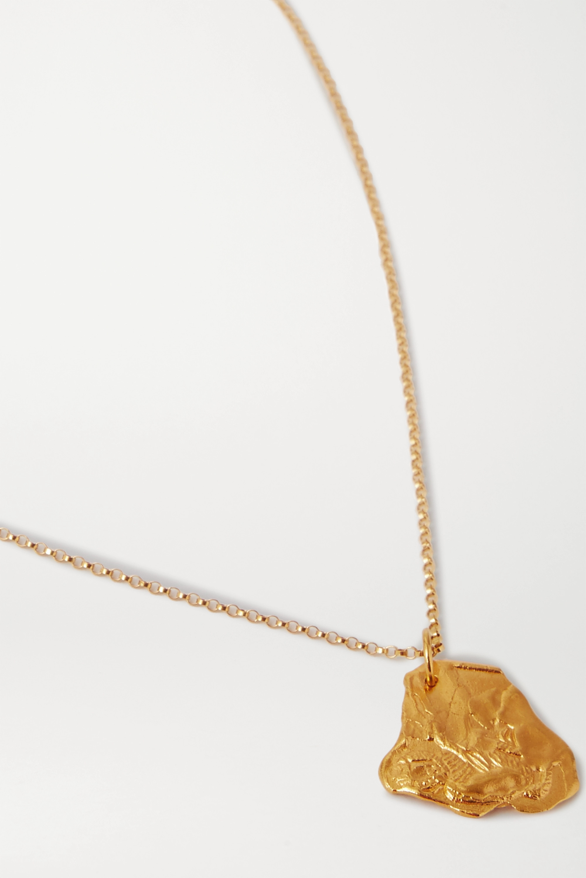 Alighieri Year of the Monkey gold-plated necklace