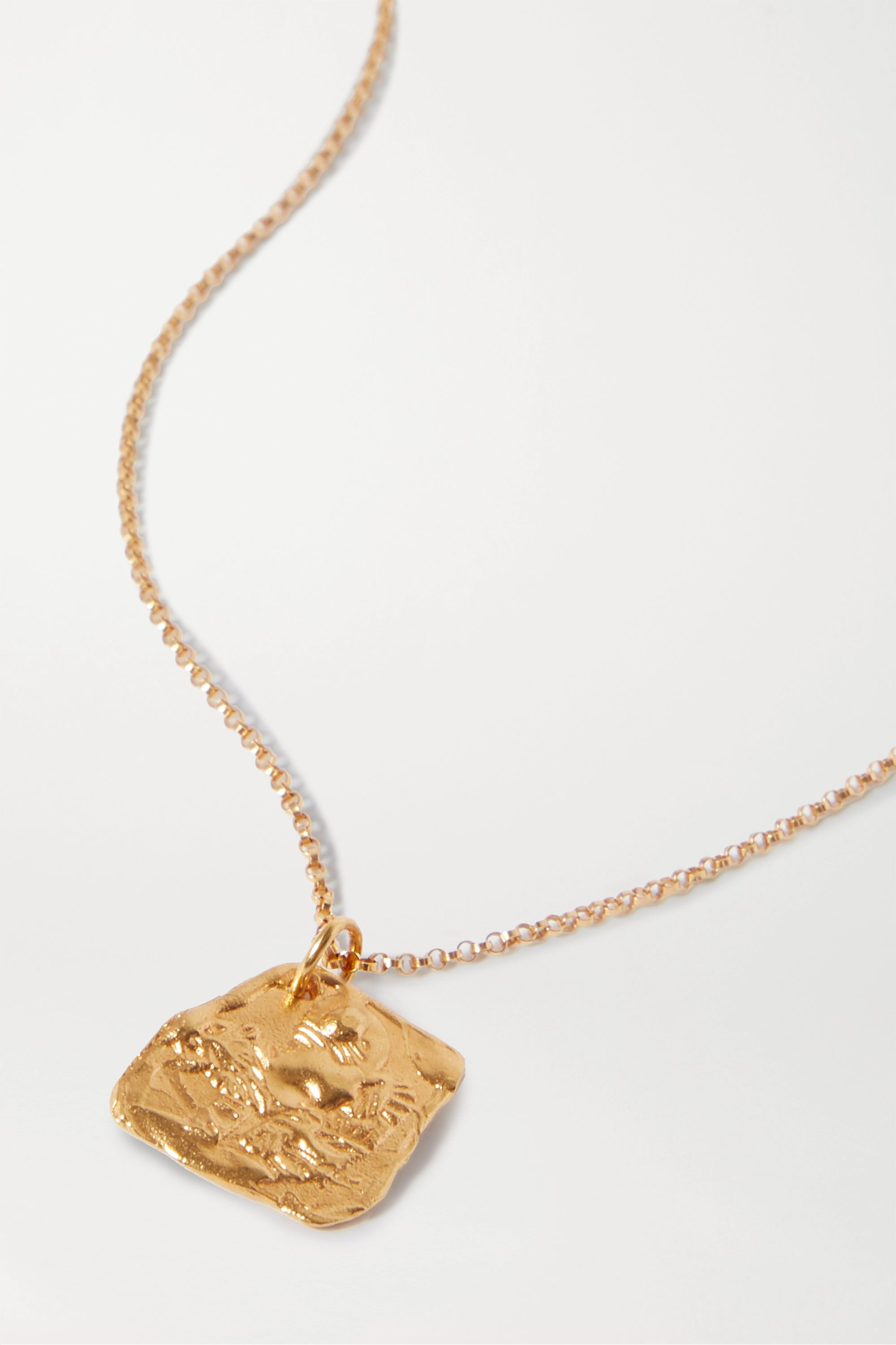 Alighieri Year of the Tiger gold-plated necklace