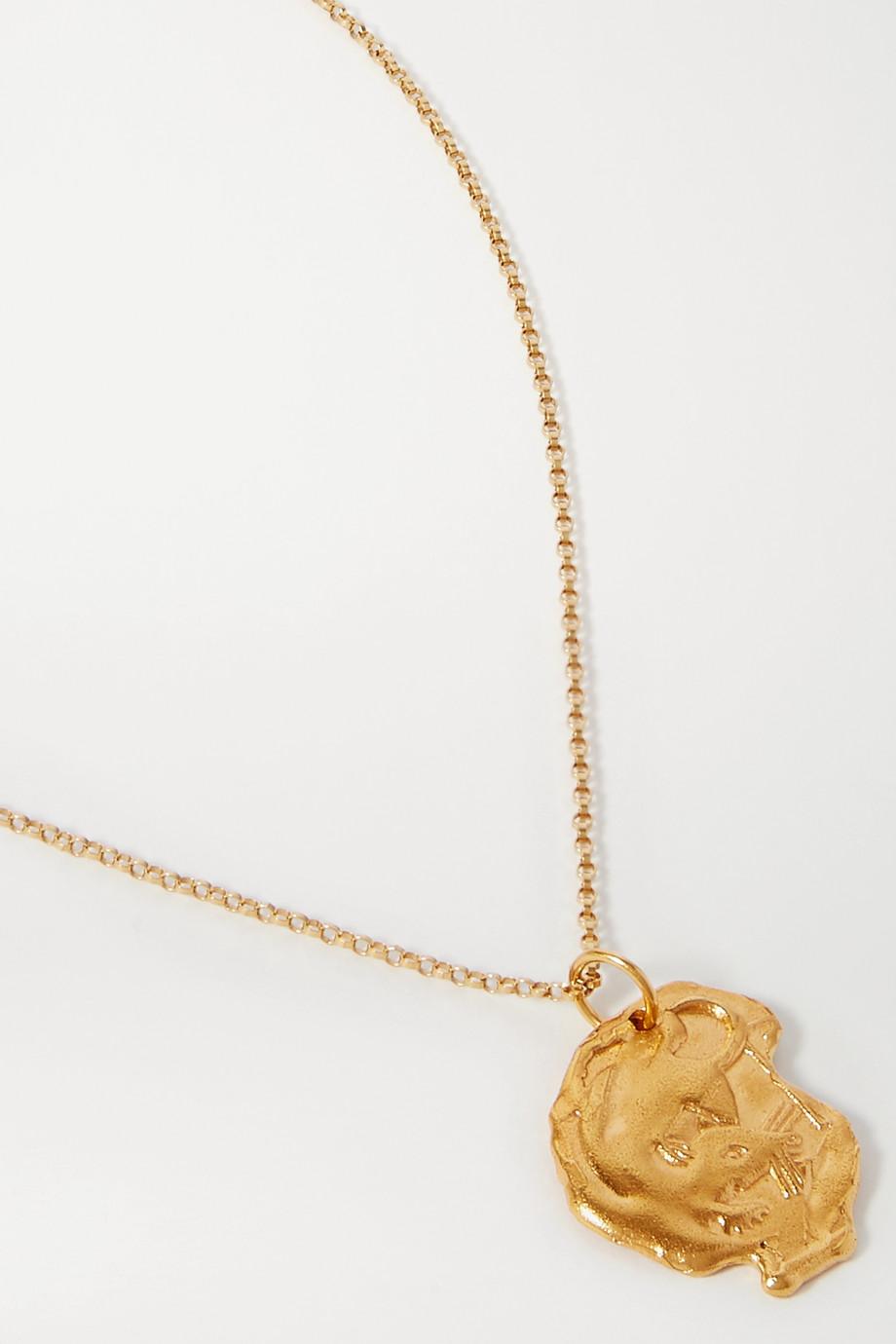 알리기에리 쥐 목걸이 20SS 12지신 시리즈 Alighieri Year of the Rat gold-plated necklace,Gold