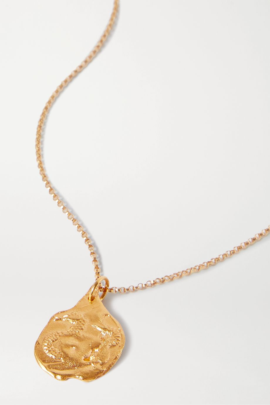 Alighieri Year of the Snake gold-plated necklace