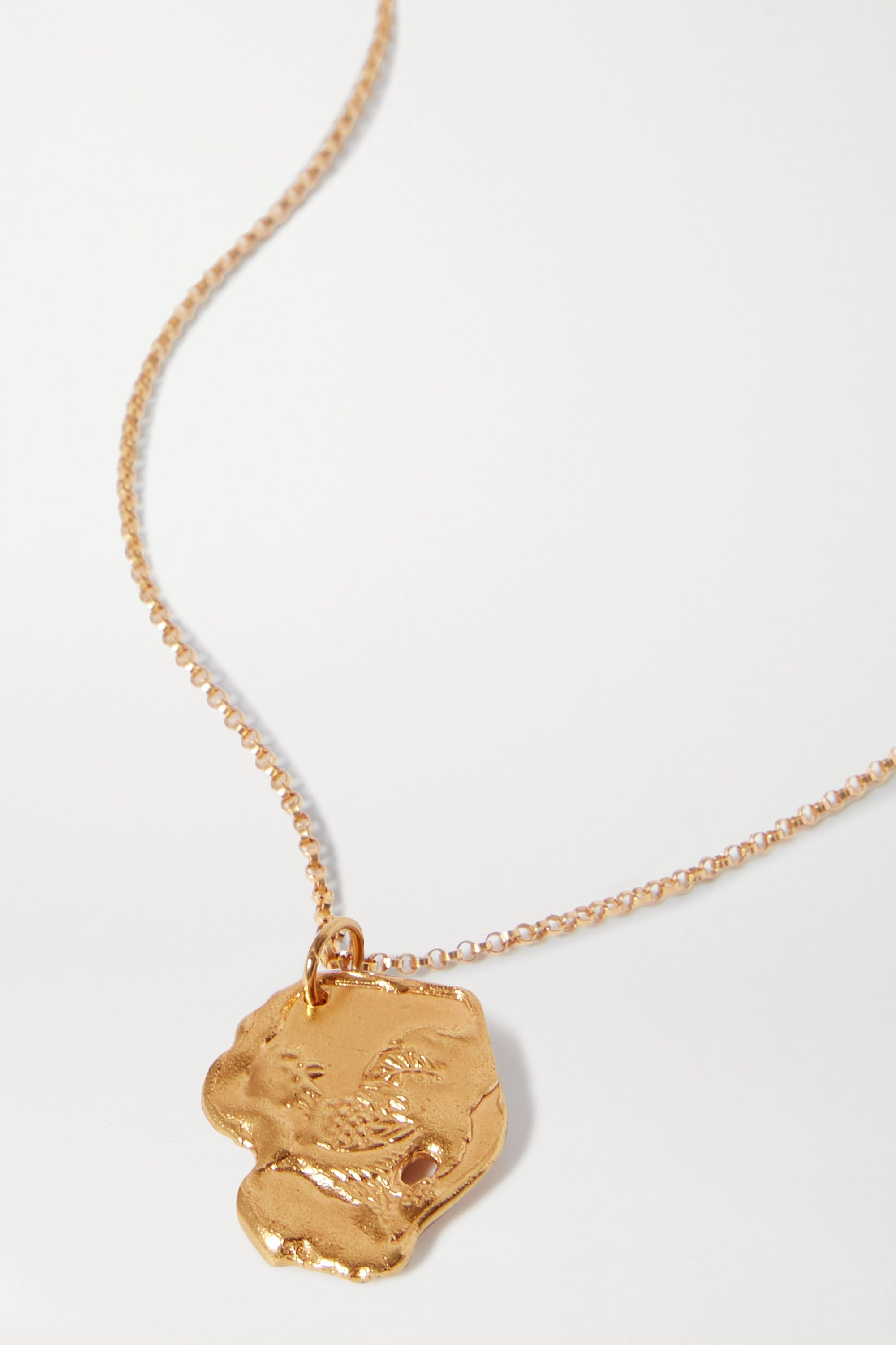 Alighieri Year of the Rooster gold-plated necklace