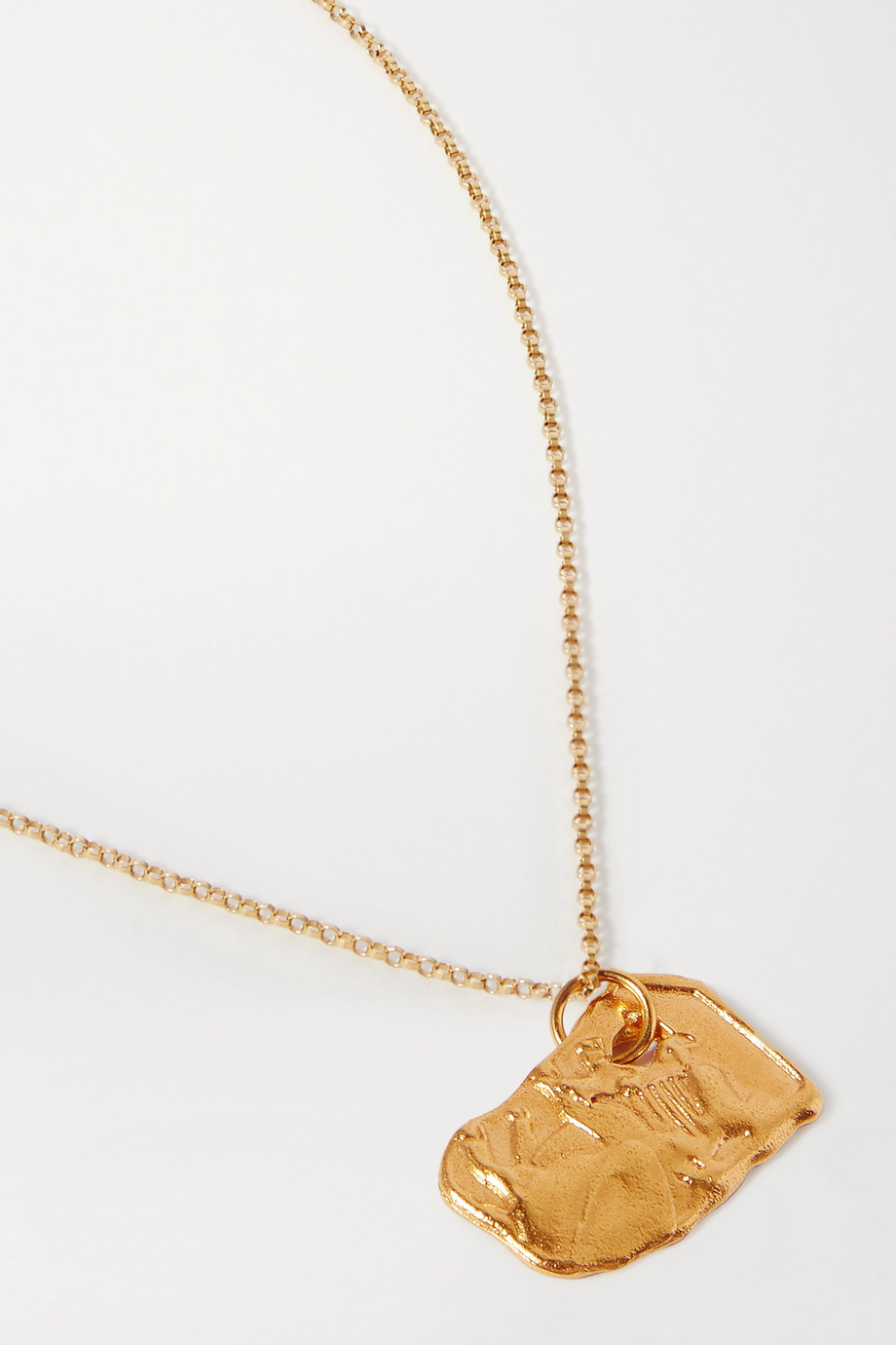 Alighieri Year of the Ox gold-plated necklace
