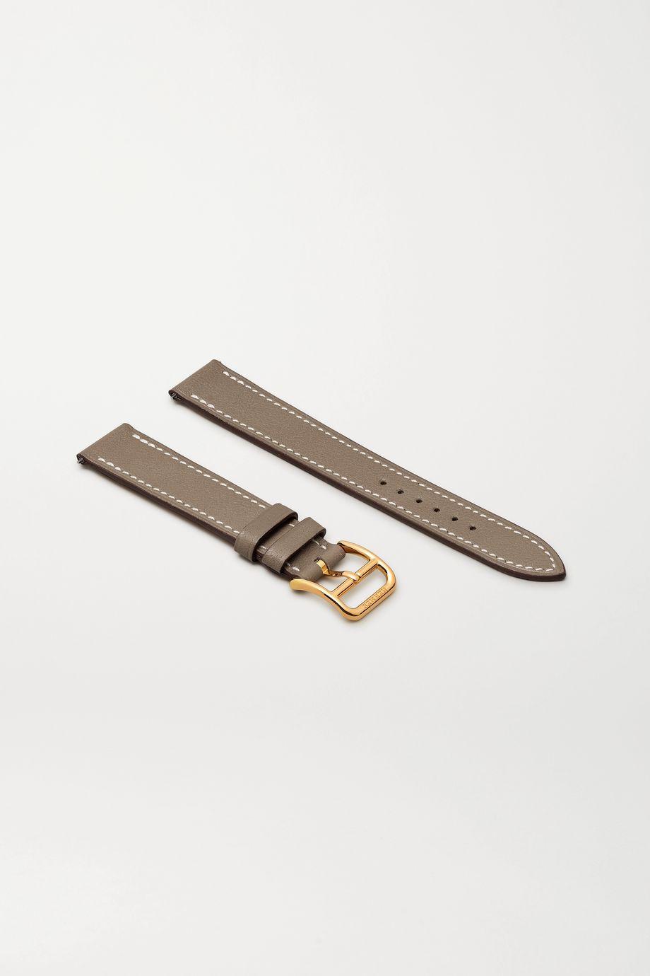 Hermès Timepieces Heure H Double Jeu 21mm leather watch strap