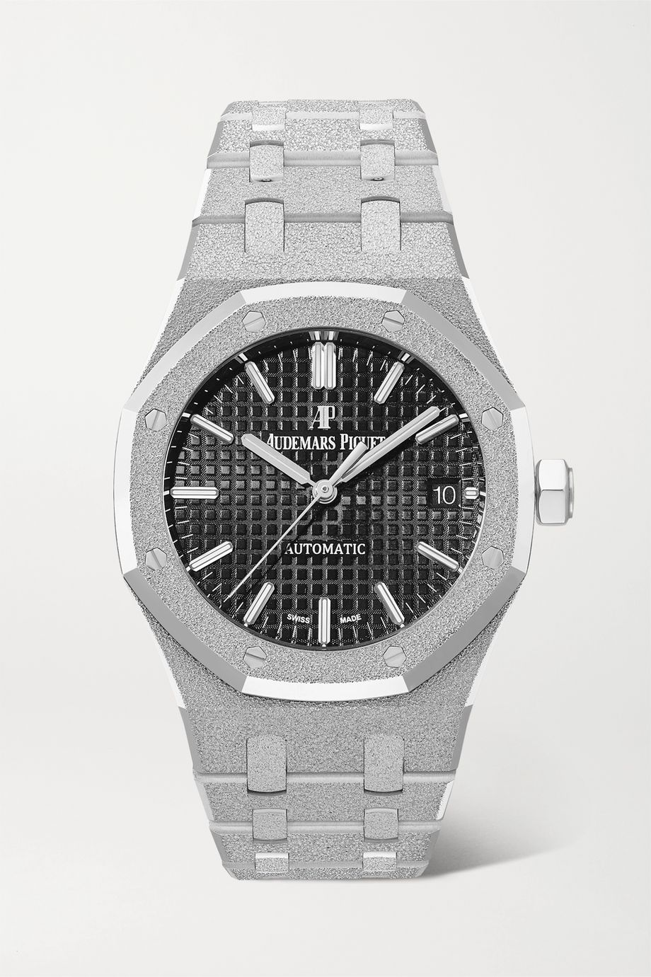 Audemars Piguet Montre en or gris 18 carats givré Royal Oak Automatique 37 mm