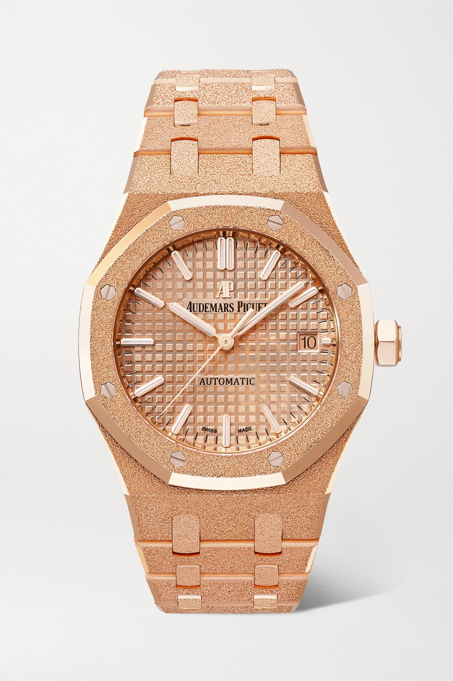 Audemars Piguet Montre en or rose 18 carats givré Royal Oak Automatique 37 mm