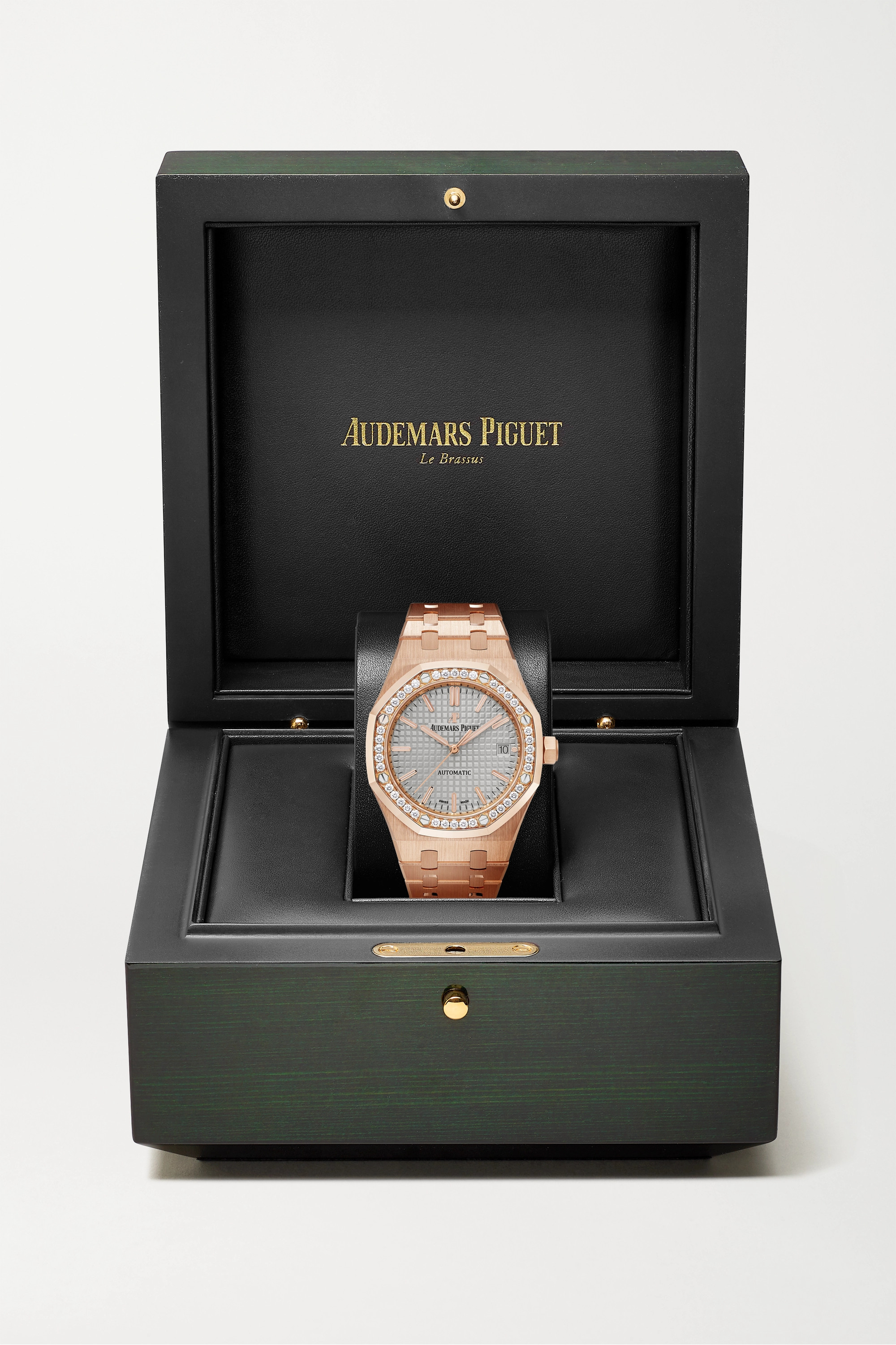Audemars Piguet Royal Oak Automatic 37mm 18-karat pink gold and diamond watch