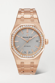 Royal Oak Automatic 37mm 18-karat pink gold and diamond watch