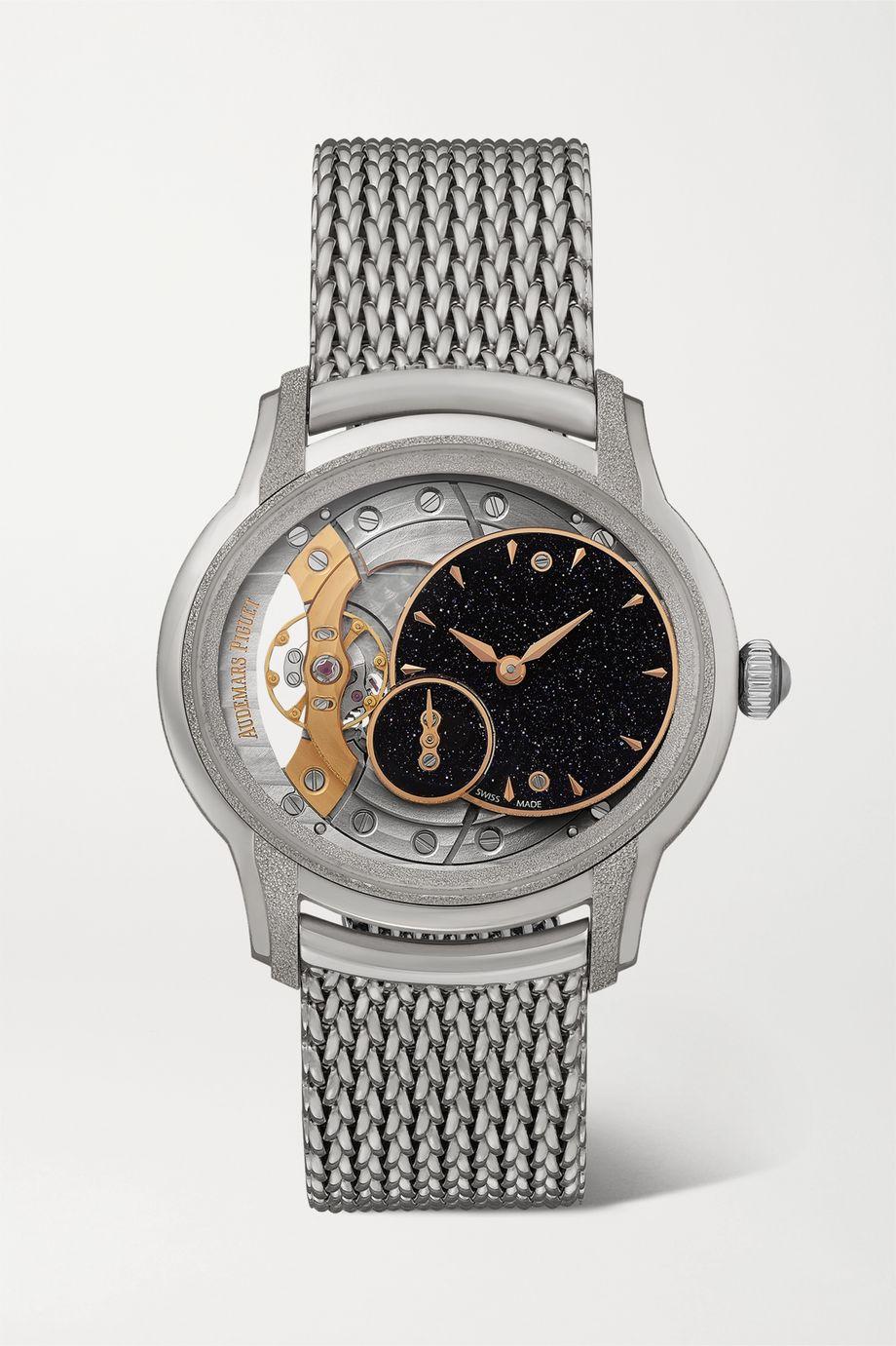 Audemars Piguet Montre en or gris 18 carats givré et aventurine Millenary 39,5 mm