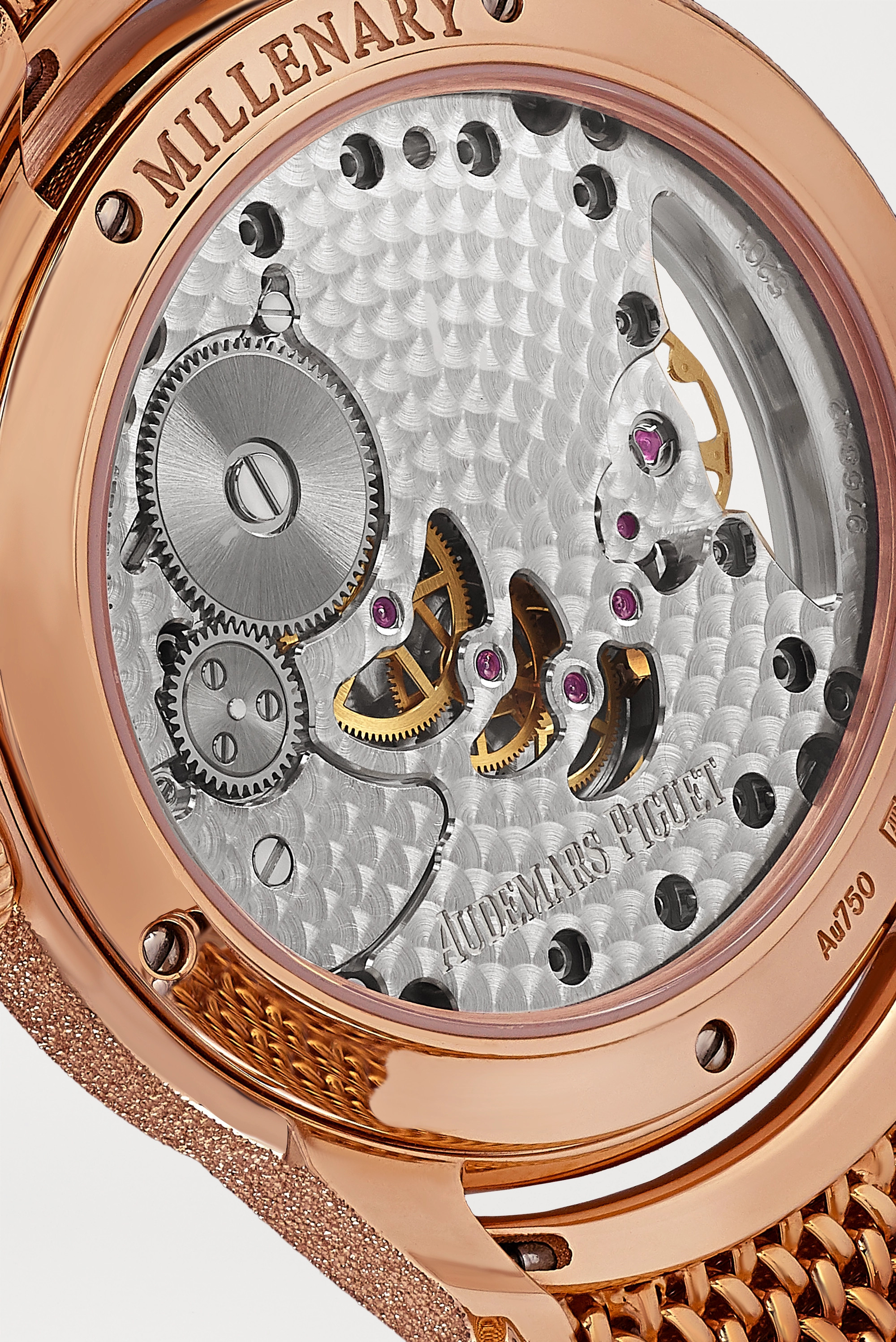 Audemars Piguet Millenary 39.5mm 18-karat frosted pink gold and opal watch