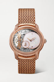 Audemars Piguet Millenary 39.5mm 18-karat frosted pink gold and opal watch