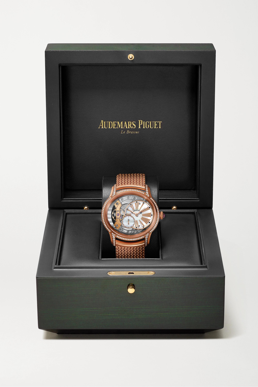 Audemars Piguet Millenary 39,5 mm Uhr aus 18 Karat Roségold mit Diamanten und Perlmutt