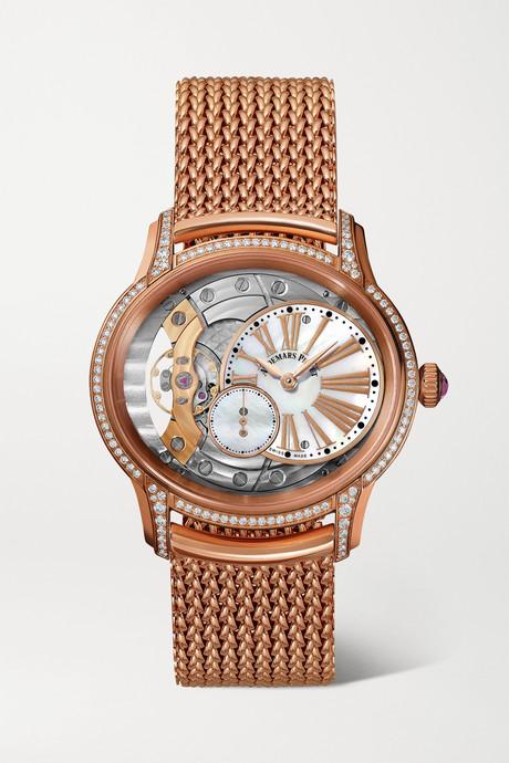 Rose gold Millenary 39.5mm 18-karat pink gold, diamond and mother-of-pearl watch   Audemars Piguet k5Ud1E