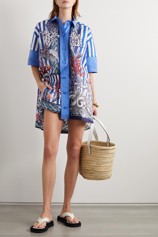 F.R.S For Restless Sleepers Nerito bedruckte Bluse aus Baumwollpopeline