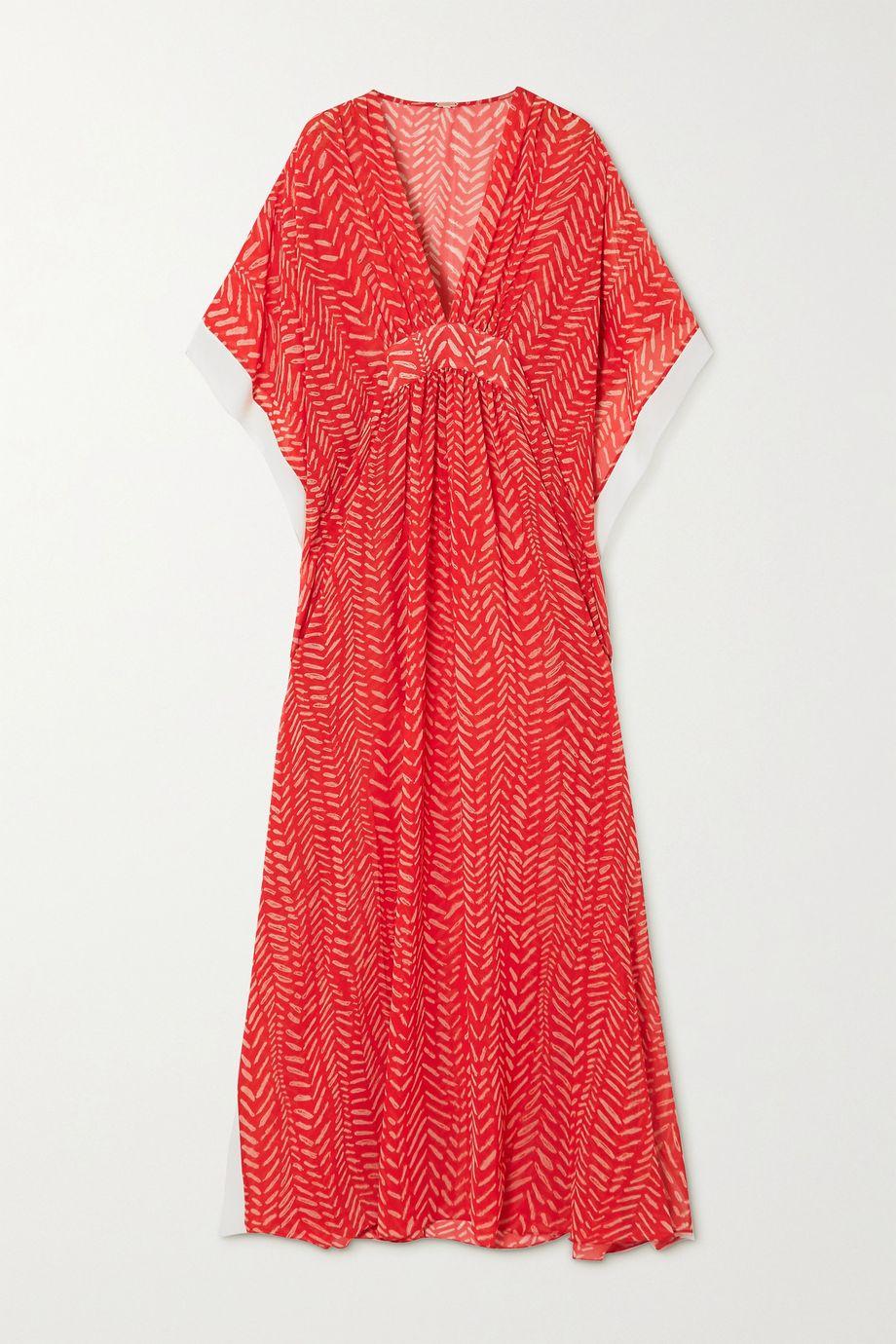Johanna Ortiz Seychelles printed woven maxi dress